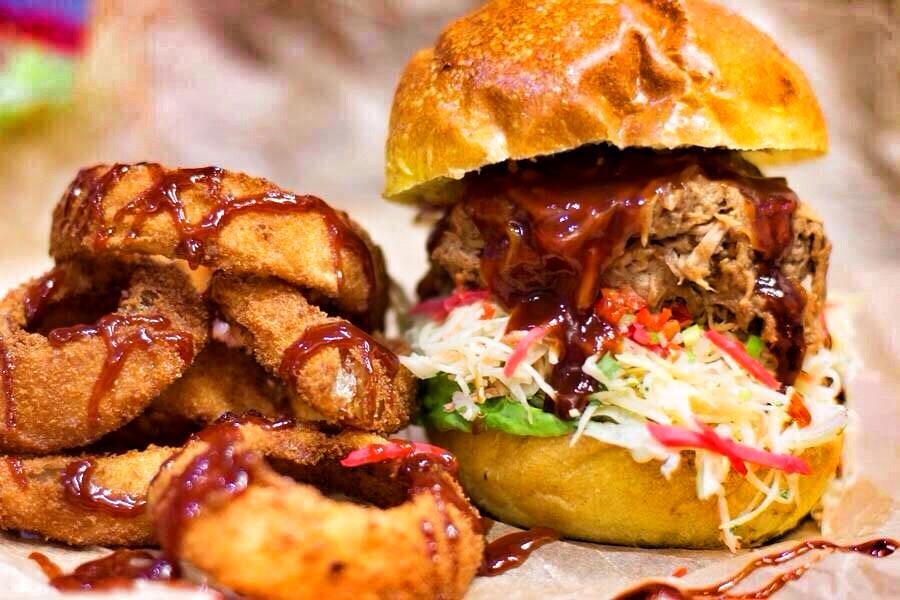 Burger & Onion Rings