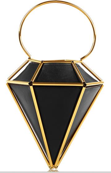 FINDS + WXYZ Diamond leather bag
