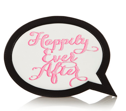 SOPHIA WEBSTER Happily Ever After embroidered leather clutch