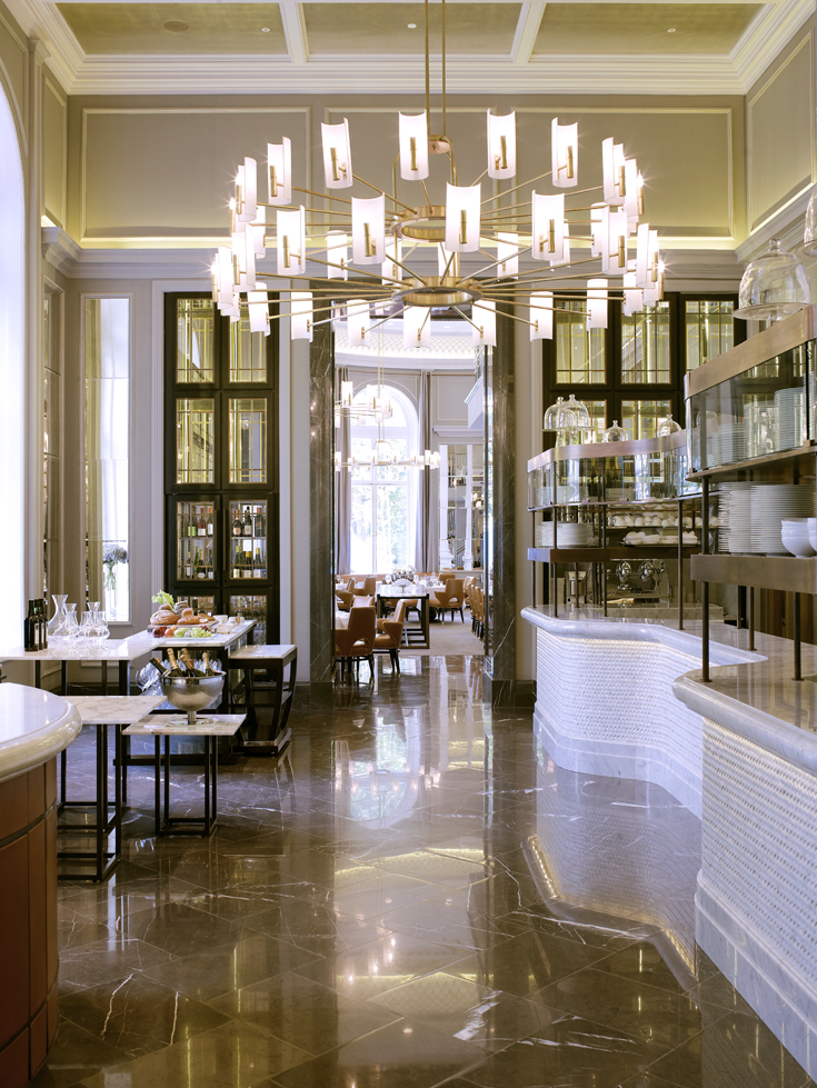 The Northall food theatre to dining room Corinthia Hotel London