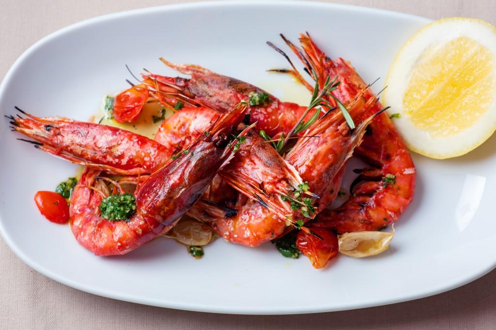 italian Sicilian recd prawns