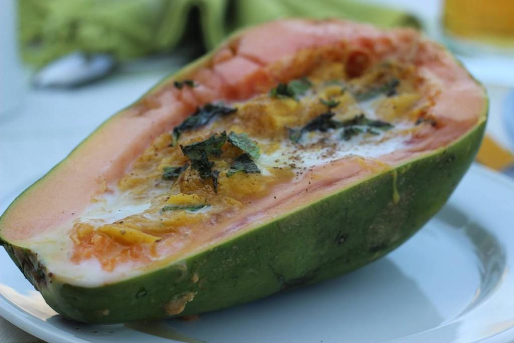 5. Stuffed Papaya