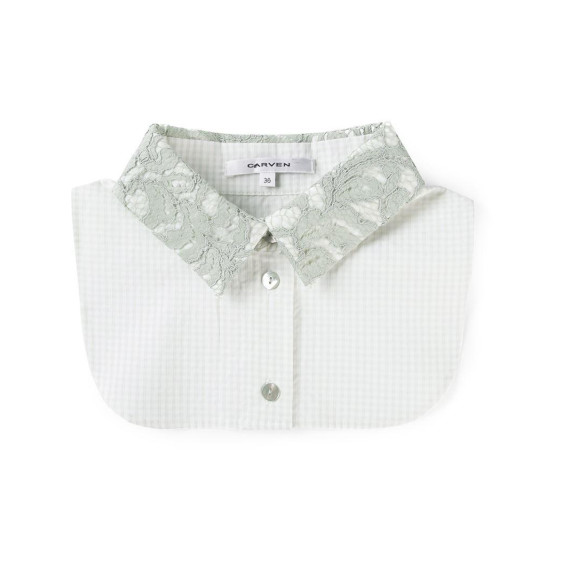 product-carven-lace-gingham-check-shirt-collar-20921882