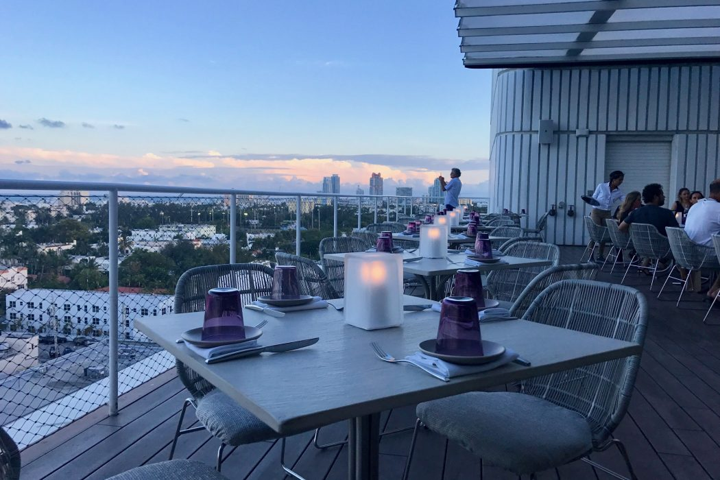 It S 7 39 On A Tuesday Evening And We Are Taking In The Most Stunning View Of Miami Know That Exact Time Because Sky Is So Clear Can